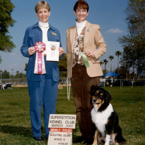 Aster finishing her AKC CD at Superstition KC, March 2001