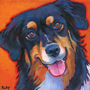 A portrait of Aster, painted by artist  Lynn Culp.
