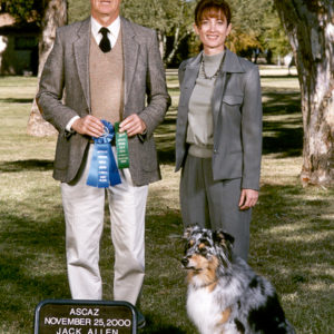 Jazz winning first place in Open A under judge Jack Allen at the ASCAZ show, 11.25.2000