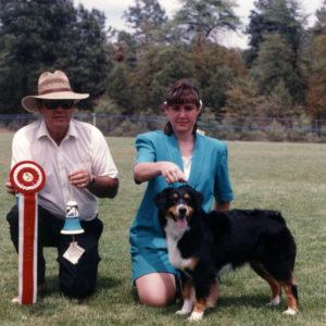Phoebe winning Best Opposite Sex under Judge Ron Nunnally, at NAASA, Payson AZ, May, 1994