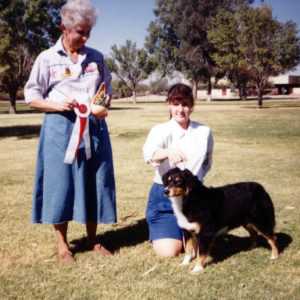 Phoebe winning Best Opposite Sex under Judge Nancy Smith, at OPASC, Marana AZ, November 6, 1994