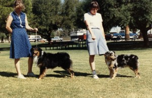 Harley and her sire, Kid, in 1988