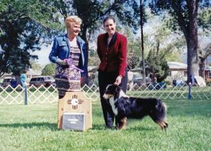 Cody going Winners Dog at ASANM under ASCA Breeder Judge Janet Goin, September 23, 2000.