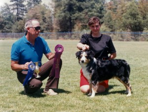 Abbi winning Winners Bitch under ASCA Breeder Judge Gary Hawley at NAASA May Days, Payson AZ, 28 May 1994