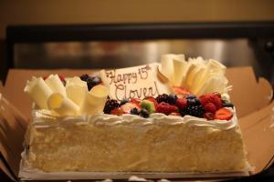 Clover's birthday cake, 02 Nov 2013