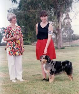 Harley winning Best of Breed at the age of 8 years under Judge Sara Conrad at OPASC, Marana AZ, 12 Sep 1993