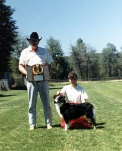 Meeka & Claire made the 1988-89 ASCA 500 Club. Trophy presented by ASCA President Dave Hill