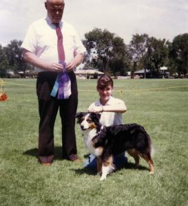 Meeka winning Winners Bitch under Judge Floyd Peterson at ASANM, Albuquerque NM, 31 Jul 1988