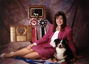 Meeka & Claire in Claire's Senior Portrait, 1991
