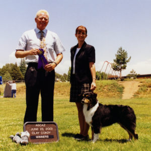 Aster winning Altered Winners Bitch under Judge Clay Coady, 06.23.2001. Photo Credit Kristin Rush