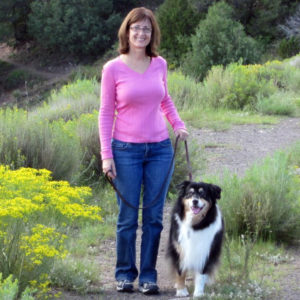 Donna and Aster enjoying a hike, when Aster was around 12 years old.