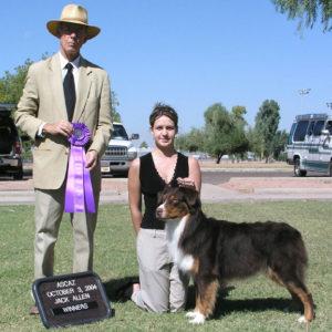 Flyer winning WD at ASCAZ under judge Jack Allen, 10.03.2004