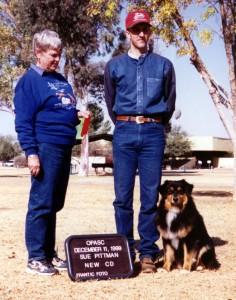 Daisy finishing her ASCA CD title under Judge Sue Pittman at OPASC, Marana AZ, Dec 1999