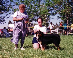 Daisy winning Reserve Winners Bitch under Judge Janet Schoonover at NAASA May Days, Chino Valley AZ, May 1999