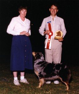 Harley winning Best Opposite Sex at the age of 8 years, under Judge John Kavanaugh at ASCAZ, 19 Sep 1993